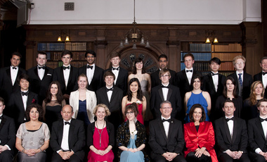 Elaine Kamarck (first row, 3rd from left) at the Oxford Union.