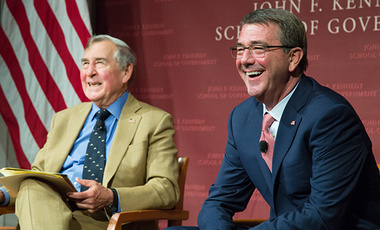 Ash Carter and Graham Allison at the JFK Jr. Forum.