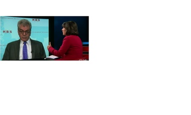 Gary Samore being interviewed by Christiane Amanpour