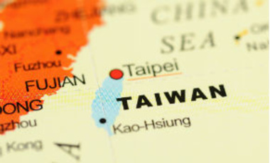 Taiwan on a map.