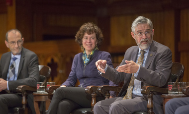 John Holdren, assistant to the President for science and technology, at Harvard.