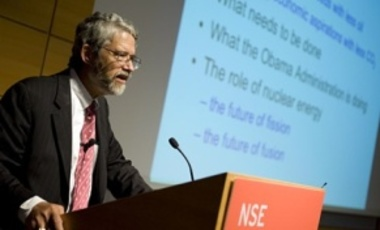 Presidential science advisor John P. Holdren delivers the David J. Rose Lecture in Nuclear Technology at MIT.