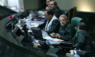 Iranian parliamentarians dressing in IRGC uniforms to demonstrate solidarity  following the Trump administration's terrorist designation of the organization.