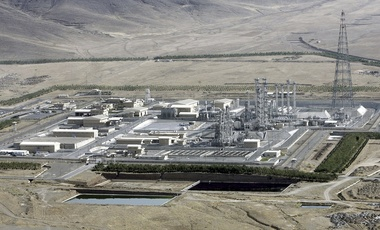 Aerial view of a heavy-water production plant in the central Iranian town of Arak.