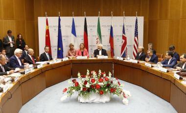 Talks which led to the Iran Nuclear Deal are held in Vienna in 2015.