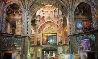 A traditional Iranian bazaar in the city of Kashan
