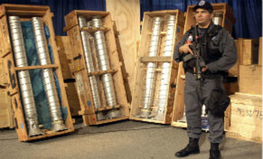 Gas centrifuges for uranium enrichment recovered en route to Libya in 2003.