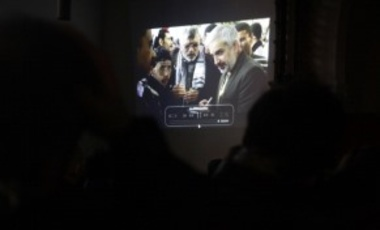 A video image of New York Times Journalist Anthony Shadid who died in Syria of an asthma attack in February 2012.