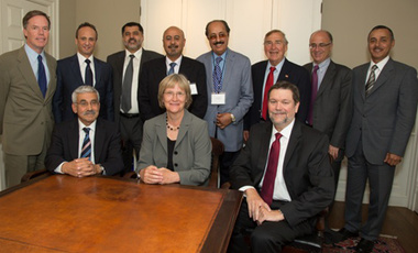 Representatives of Harvard University and the Kuwait Foundation for the Advancement of Sciences at the presentation of the Foundation's $8.1 million gift for continuation of the Kuwait Program at the Belfer Center's Middle East Initiative.