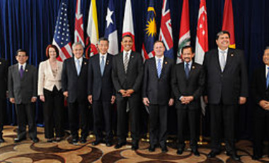 Leaders of the (then) negotiating states of the Trans-Pacific Strategic Economic Partnership Agreement (TPP) at a 2010 summit.