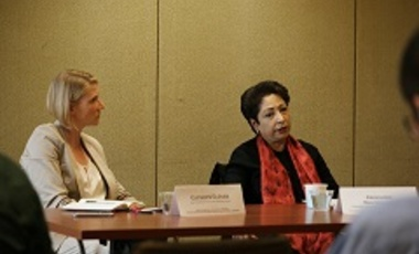 Cathryn Clüver and Ambassador Maleeha Lodhi