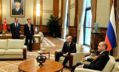 Presidential Palace Ankara - Meeting between President of Turkey Recep Tayyip Erdogan and President of Russian Federation Vladimir Putin, Ankara, 1 December 2014