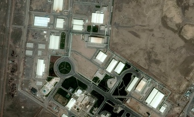 Iran's uranium-enrichment facility at Natanz, May 2009.