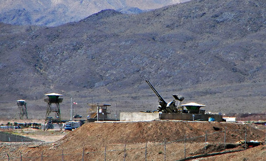 Anti-aircraft guns guarding Natanz Nuclear Facility, Iran