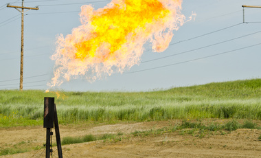 Orvis State natural gas flare