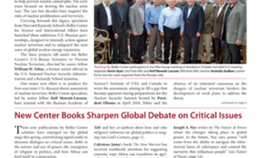 Belfer Center Newsletter Spring 2011