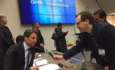Chancellor Long at the 171st meeting of OPEC on November 30, 2016 in Vienna.