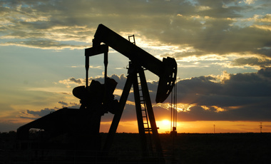Oil Pump Jack between Seminole and Andrews, West Texas