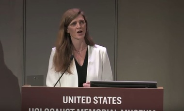 Amb. Samantha Power at the U.S. Holocaust Museum Memorial Tribute to Elie Wiesel