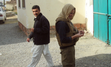 Local Goes Global: Rebecca Hummel (right) in the Khogyani District of Afghanistan's Nangarhar Province.