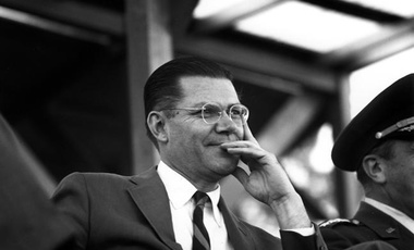 Robert McNamara at Fort Bragg, 1961