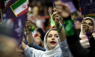 Rouhani election rally 2017