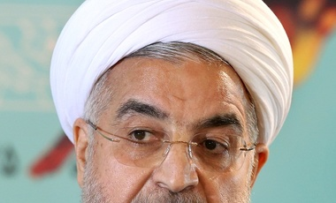 Iranian President Hassan Rouhani at a press conference in Tehran, Iran, Aug. 2014.