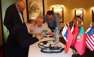 Russian Elbe Group generals huddle at the Elbe Group meeting in Morocco in March to discuss Ukraine and Crimea with American counterparts.