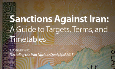 Sanctions Against Iran: A Guide to Targets, Terms, and Timetables