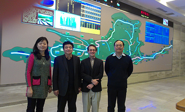 Scott Moore (2nd from right), Sustainability Science and ETIP fellow, with Chinese colleagues at the Yellow River Conservancy  Commission in Zhengzhou City, China.