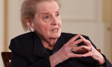 Secretary Albright on Negotiation: Photo Gallery