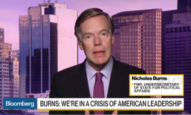 Nick Burns on Bloomberg