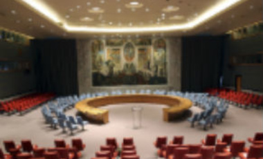 The newly renovated United Nations Security Council Chambers, also known as the Norwegian Room, is seen before the reopening ceremony, Tuesday, April 16, 2013 at U.N. headquarters.