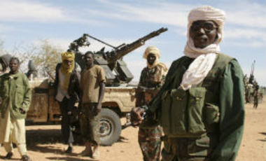 Darfur rebels are seen in their northern desert stronghold of Bir Maza in Sudan, Sunday, Dec. 9, 2007.