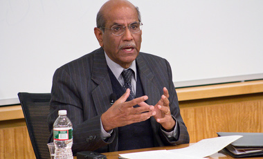 Career diplomat Shyam Saran, former foreign secretary of India, speaks on India as an emerging democratic power on the world stage. He is currently a Fisher Family Fellow with the Belfer Center's Future of Diplomacy Project.