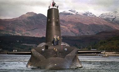 The Royal Navy's 16,000 ton Trident-class nuclear submarine Vanguard, January 30, 2002