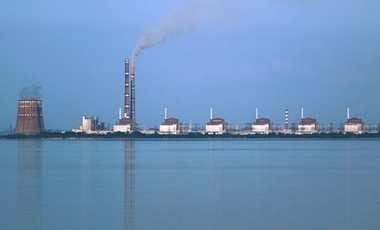Biggest nuclear power station in Europe; about 150 km from Zaporozhye, Ukraine.