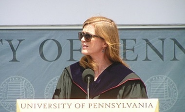 Amb. Samantha Power at the University of Pennsylvania Commencement