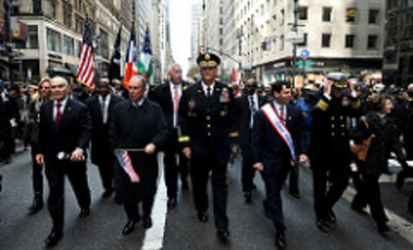 New York Veterans Day Parade in November 2011