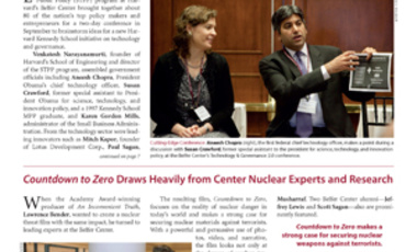 Belfer Center Newsletter Winter 2010-11