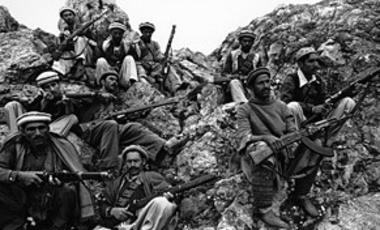 Mujahedeen rebels, holy warriors, are shown as they rest high in the mountains in the Kunar province area in Afghanistan in May 1980.