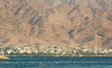 The port city of Aqaba, Jordan. Large-scale desalination of seawater may be required.