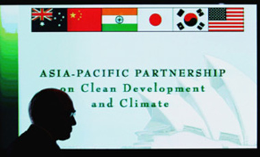 Australian PM John Howard opened the Asia-Pacific climate meeting, Jan.12, 2006, in Sydney, Australia. Ministers from Australia, the U.S., China, India, Korea, and Japan met to discuss the Asia-Pacific climate pact.