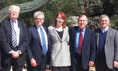 Security Collaboration: Participants in February's U.S.-Israel Track II Dialogue included the Belfer Center's Robert Blackwill (left), Gary Samore, Meghan O'Sullivan, Graham Allison, and James Cartwright.