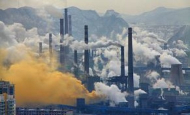 Steel mills, Benxi, China, Feb.12, 2013. Steel mills and other heavy industries amplify carbon emissions where they are located while the products are consumed in more affluent parts of China.