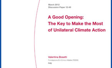 A Good Opening: The Key to Make the Most of Unilateral Climate Action