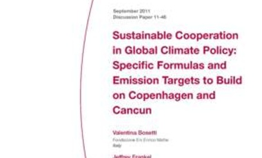 Sustainable Cooperation in Global Climate Policy: Specific Formulas and Emission Targets to Build on Copenhagen and Cancun