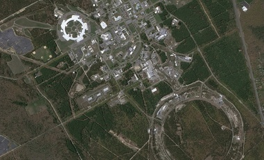 overhead image of Brookhaven National Laboratory
