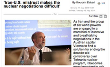 Matthew Bunn Interviewed in Tehran Times