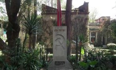 Grave of Joseph Stalin Rival Leon Trotsky on the grounds of his villa, now a museum, in Coyoacán, Mexico, 27 September 2011.